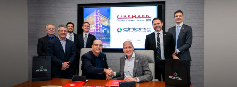 Cinemark partners with Cinionic for Barco Laser in 10-year worldwide exclusive agreement